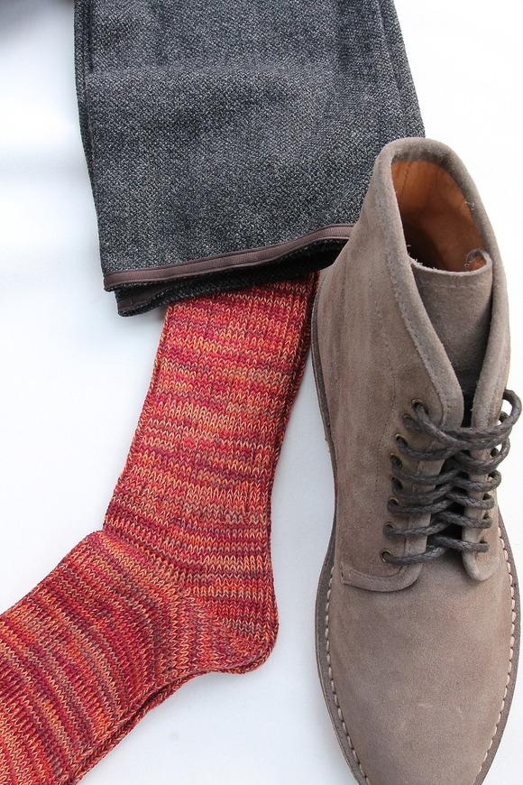 Anonymous Isme 5 Color Mix Socks WINE