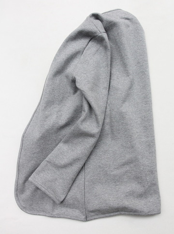Flocon d ete Cotton Fleece Button Less Cardigan GREY (5)