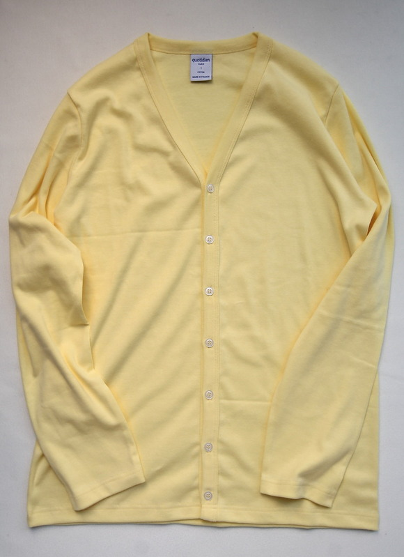 Quotidien 1X1 Rib Vneck Cardigan YELLOW