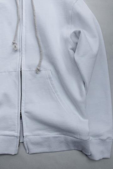 Arbre HW Cotton Fleece Zip up Sweat Parka WHITE (3)