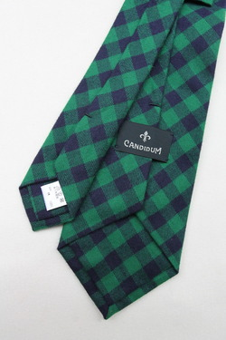 CANDIDUM Bright Check Tie GREEN X BLUE (2)
