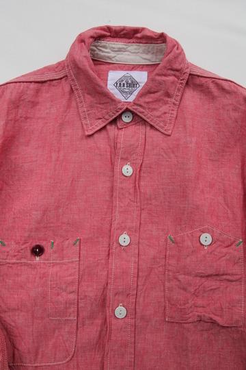 Fob Chambrey Work Shirt RED (5)