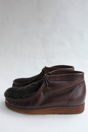 HTS Upper Sheep Skin Wallabee D BROWN (5)