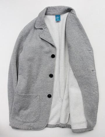 Goodon 9oz Cotton Fleece 3 Button Blazer H GREY (4)