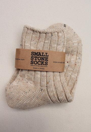 SMALL STONE Socks Cotton Linen Crew Socks MIX (2)