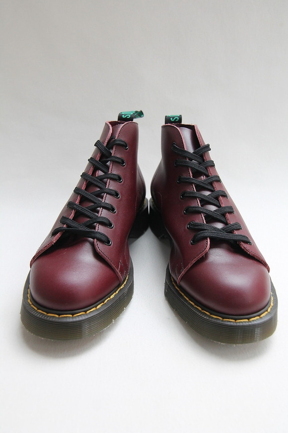 Solovair Oxblood 7 Eye Monkey Boot CHERRY (3)