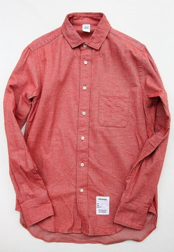 Your Uniform 20s Chambray Shirt Elbow Patch ORANGE