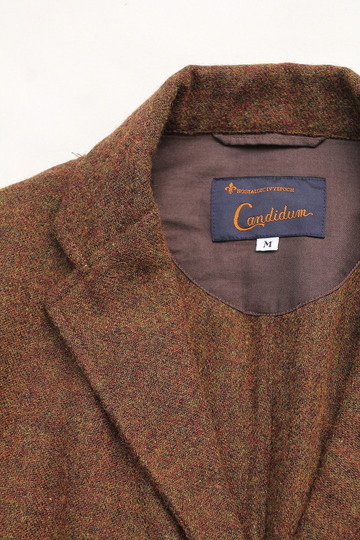 CANDIDUM Tweed 3 Button Sports Jacket BROWN (3)