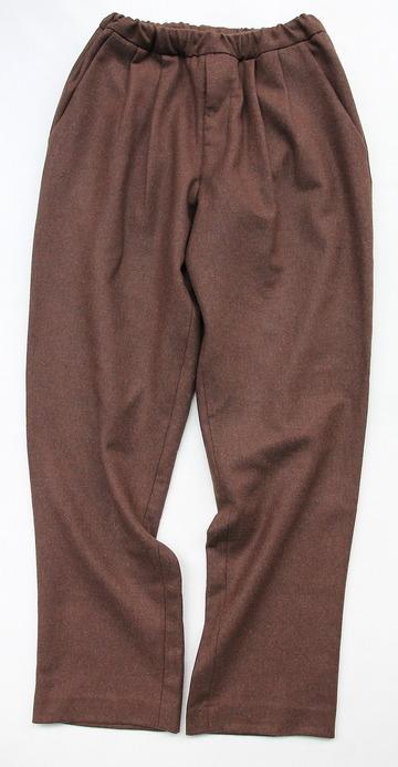 CEASTERS 2 Pleats Easy Trousers BROWN  by Burel (5)