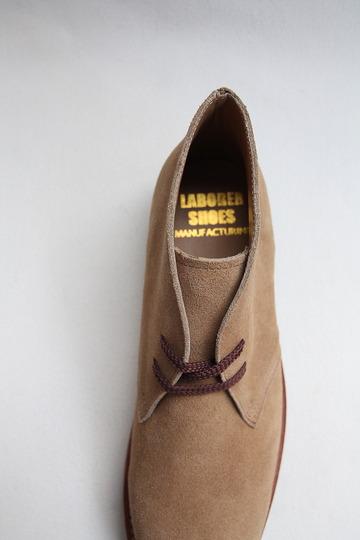 Laborer Shoes Postman Chukka BEIGE Suede (5)