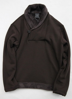 Leciel de Harriss Bomber Heat Shawl Collar BROWN