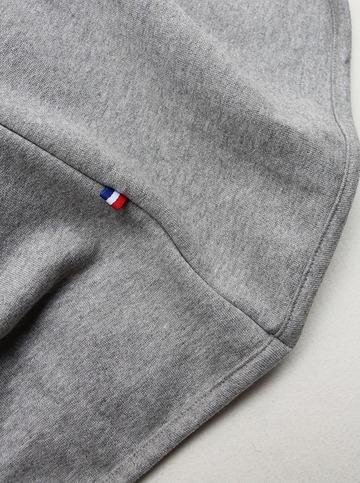 Flocon d ete Cotton Fleece Button Less Cardigan GREY (4)