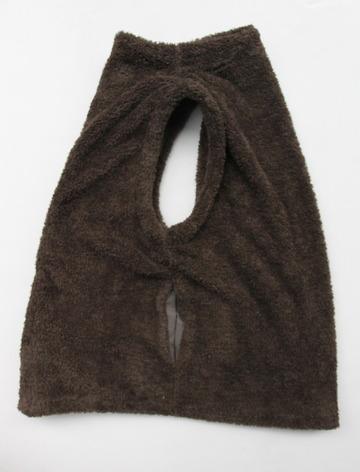 Le ciel de Harriss Boa Fleece Button Vest OLIVE (5)