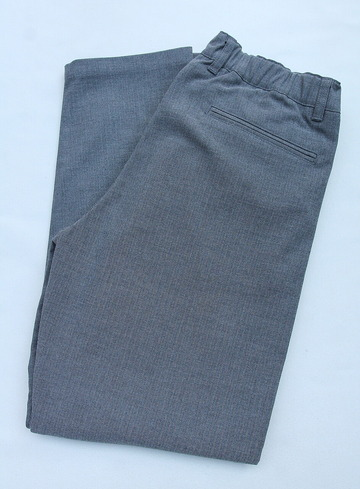 Harriss CARREMAN TR Stretch Heringbone 1P Tapered Pants GREY