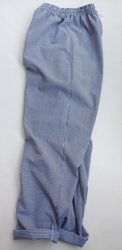 Alexandra Chefs Trousers NAVY Gingham (6)