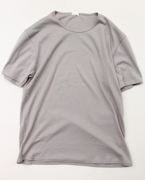 Dead Stock Made in FRANCE 1x1 Rib Crew Tee GREY