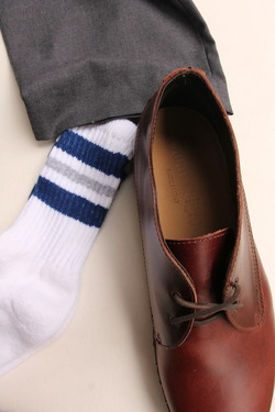 STRIP Crew Socks 9-11 NAVY & GREY