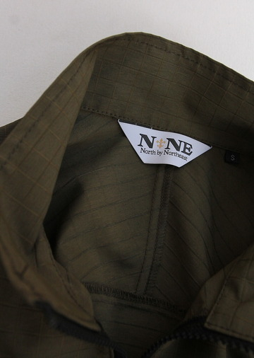 North by North East Rip Stop Pullover Jacket KHAKI (4)
