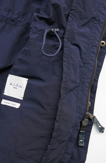 MIDA Type M65 With Hood Materiale made in Japan NAVY (5)