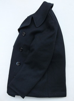 Sterlingwear Wool Melton P Coat NAVY (2)