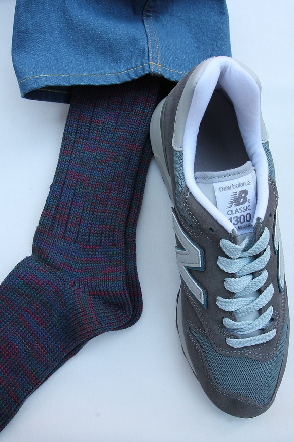 Anonymous Isme 5 Color Mix Socks INDIGO