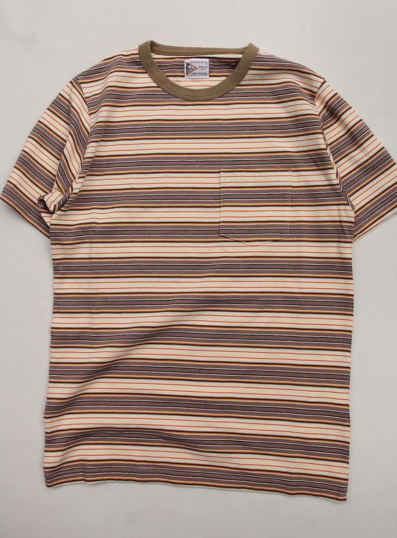 Felco SS Stripe T American Multi Stripe BEIGE