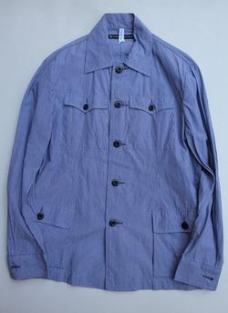 NOUN Shirt Jacket Tin Stripe NAVY
