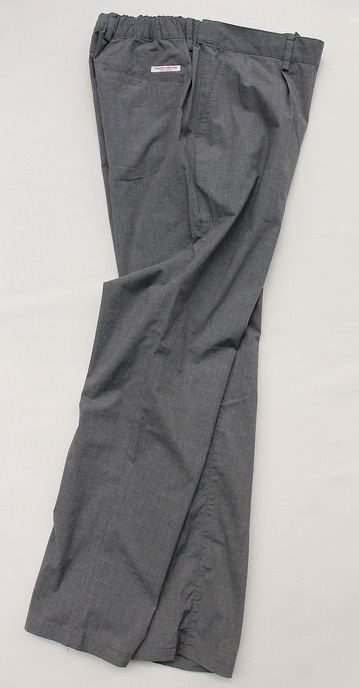 Vincent et Mireille 1 Tuck Pants TC Stretch GRAY (4)