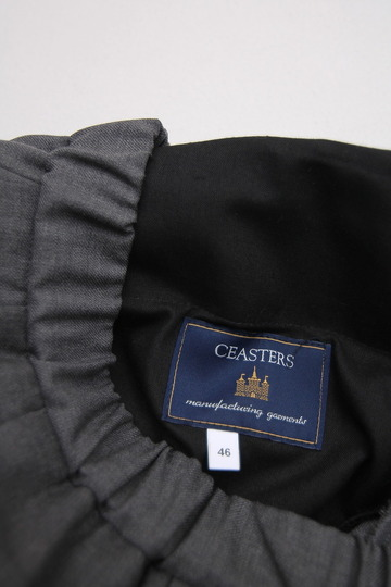 CASTERS Summer Wool 2Pleats Trousers LITE GREY (6)