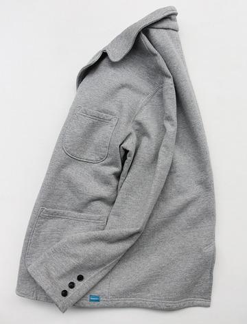 Goodon 9oz Cotton Fleece 3 Button Blazer H GREY (5)