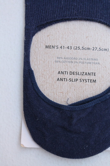 H Footwear Cover Socks Anti Slip NAVY (3)