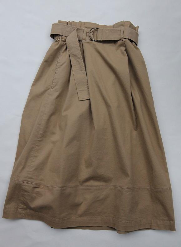 Le Ciel de Harriss Brushed Twill  Skirt TAN