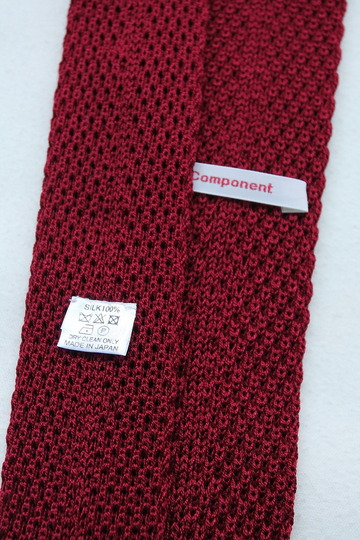 Component Silk Knit Tie WINE (2)