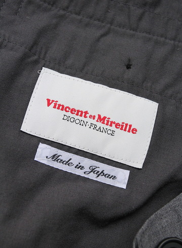 Vincent et Mireille 1 Tuck Pants TC Stretch GRAY (2)