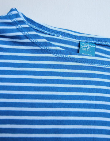 Goodon Border Boatneck LS Tee BLUE X WHITE (3)