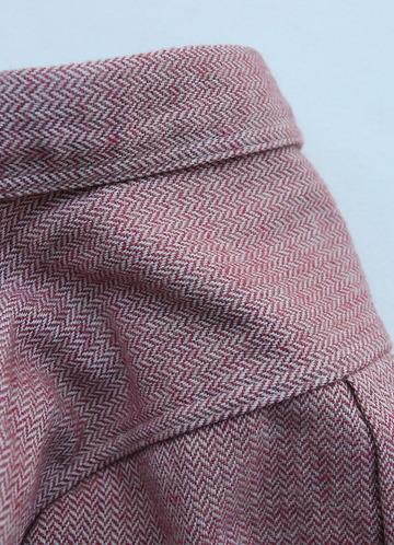 FOB Herringbone Flannel Work Shirt RED (4)