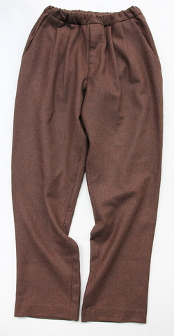 CEASTERS 2 Pleats Easy Trousers BROWN  by Burel (5)