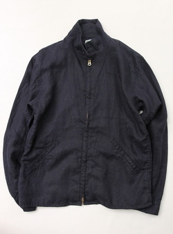 Arbre Linen Zip Jacket NAVY