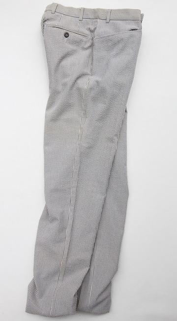 Mabitex Seersucker Tepered Pants BEIGE X GREY (6)