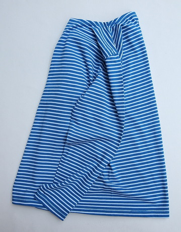 Goodon Border Boatneck LS Tee BLUE X WHITE (2)