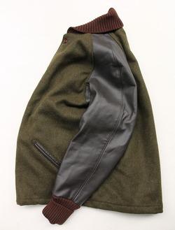 SKOOKUM Sur Coat OLIVE X BROWN (7)