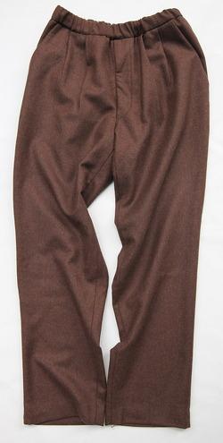 CEASTERS 2Pleats Easy Trousers BROWN  by Burel (5)