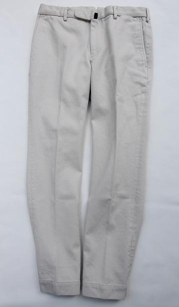 DC WHITE Pique Basic Pants IVORY (2)