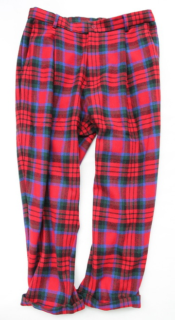 CESTERS 1 Pleats Trosuers  Burel RED Plaid (6)