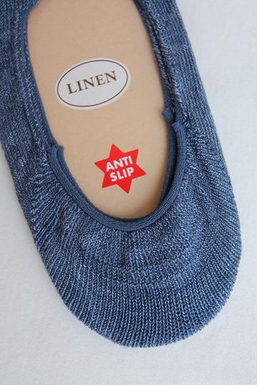 HALISON Melange Linen Lofers Socks INDIGO (3)