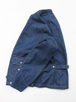 Le ciel de Harriss Stand Collar Denim Jacket (4)