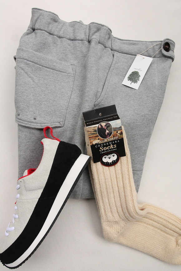 Jacob Sheep Connemara Socks ECRU