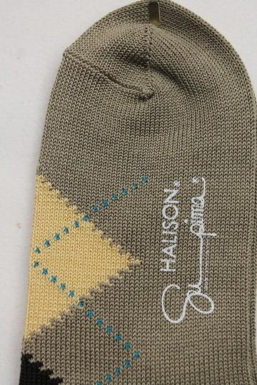 HALISON Su Pima Argyle Socks OLIVE (3)