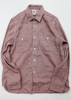FOB Heringbone Nel Work Shirt RED