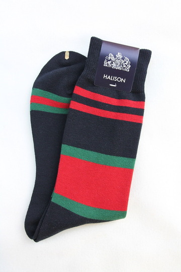 HALISON Dralon Cotton Rugger Border NAVY (3)